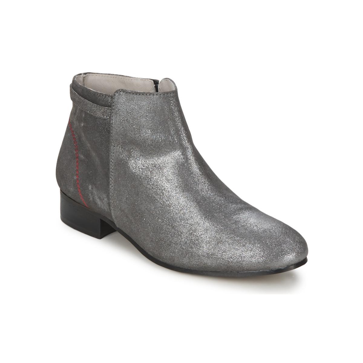 Kotnikove boty Alba Moda  Stříbřitá