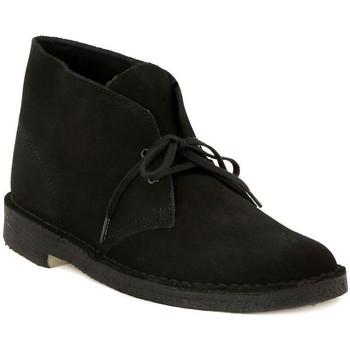 Clarks Kotníkové boty DESERT BOOT BLACK - Černá