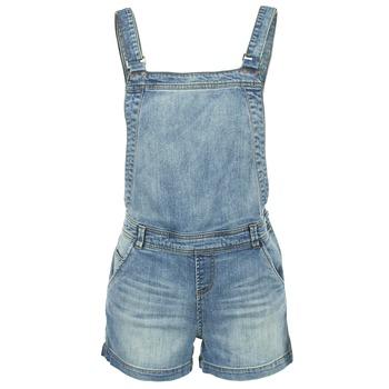 Textil Ženy Overaly / Kalhoty s laclem Naf Naf GUERIC Modrá