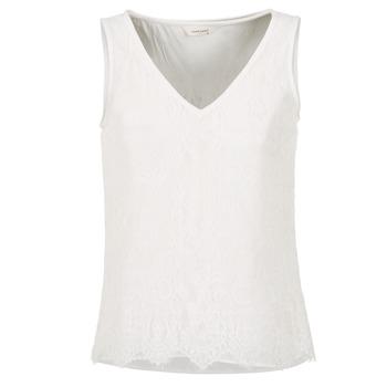 Textil Ženy Tílka / Trička bez rukávů  Naf Naf LADALIA Krémově bílá