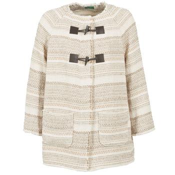 Textil Ženy Kabáty Benetton LUMO Béžová