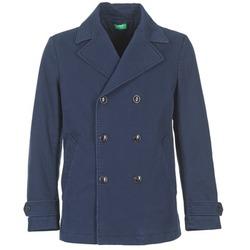 Textil Muži Kabáty Benetton FIMARA Tmavě modrá