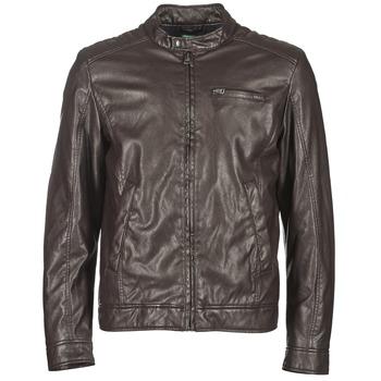 Textil Muži Kožené bundy / imitace kůže Benetton HOULO Hnědá