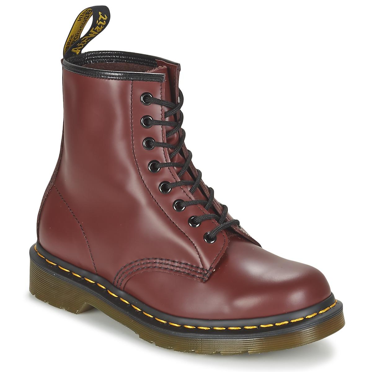 Kotnikove boty Dr Martens 1460 Červená