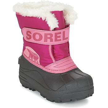 Sorel Zimní boty Dětské CHILDRENS SNOW COMMANDER - Růžová