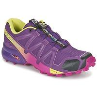 Boty Ženy Běžecké / Krosové boty Salomon SPEEDCROSS 4 W Fialová / Žlutá