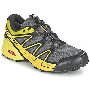 Boty Muži Běžecké / Krosové boty Salomon SPEEDCROSS VARIO GTX® Šedá / Zelená / Žlutá