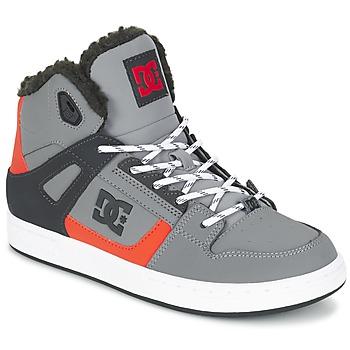 Boty Děti Kotníkové tenisky DC Shoes REBOUND WNT B SHOE XSKN Šedá / Černá / Oranžová