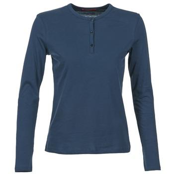 Textil Ženy Trička s dlouhými rukávy BOTD EBISCOL Tmavě modrá