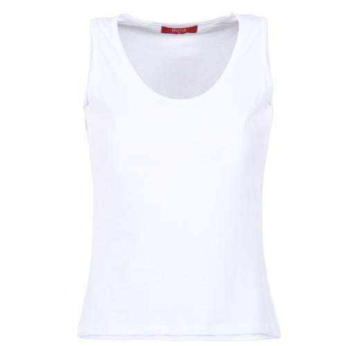 Textil Ženy Tílka / Trička bez rukávů  BOTD EDEBALA Bílá