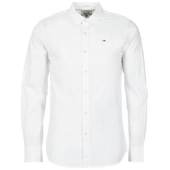 Textil Muži Košile s dlouhymi rukávy Tommy Jeans KANTERMI Bílá
