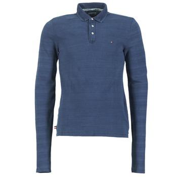 Textil Muži Polo s dlouhými rukávy Tommy Jeans KORIKO Modrá