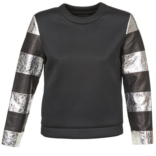 Textil Ženy Mikiny American Retro DOROTHY Černá / Stříbřitá