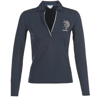 Textil Ženy Polo s dlouhými rukávy U.S Polo Assn. CRISTINE Tmavě modrá