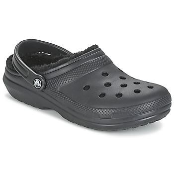Boty Pantofle Crocs CLASSIC LINED CLOG Černá