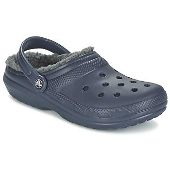 Crocs Pantofle CLASSIC LINED CLOG - Modrá