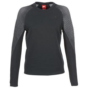 Nike Mikiny TECH FLEECE CREW - Černá