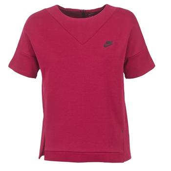 Textil Ženy Mikiny Nike TECH FLEECE CREW Bordó