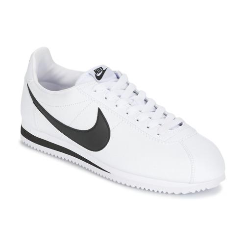 Boty Muži Nízké tenisky Nike CLASSIC CORTEZ LEATHER Bílá / Černá