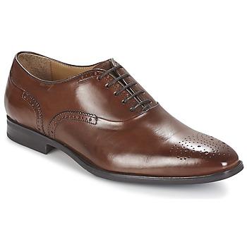 Boty Muži Šněrovací společenská obuv Geox NEW LIFE A Hnědá