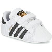 Boty Chlapecké Nízké tenisky adidas Originals SUPERSTAR CRIB Bílá