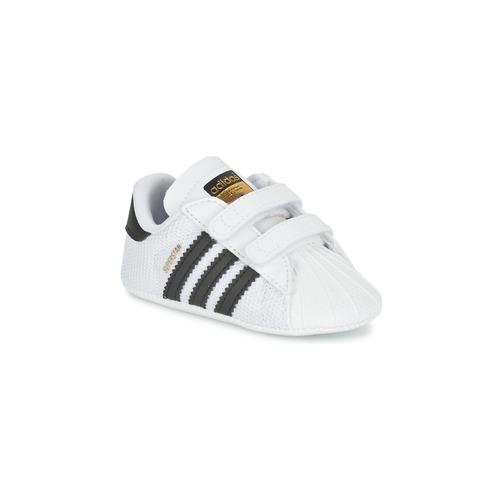 Boty Děti Nízké tenisky adidas Originals SUPERSTAR CRIB Bílá