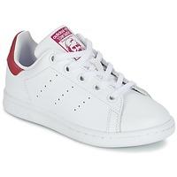 Boty Dívčí Nízké tenisky adidas Originals STAN SMITH EL C Bílá / Růžová