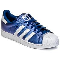 Boty Muži Nízké tenisky adidas Originals SUPERSTAR Modrá