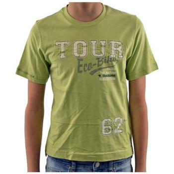Textil Děti Trička s krátkým rukávem Diadora  Zelená