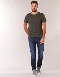 Textil Muži Rifle rovné Pepe jeans CASH Modrá