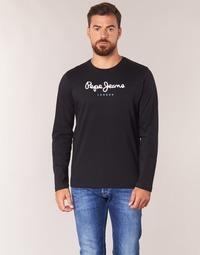Textil Muži Trička s dlouhými rukávy Pepe jeans EGGO LONG Černá