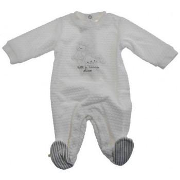 Textil Děti Overaly / Kalhoty s laclem Chicco  Bílá