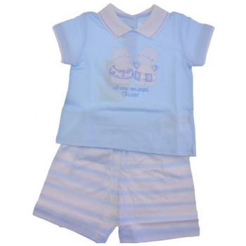Textil Děti Overaly / Kalhoty s laclem Chicco  Modrá