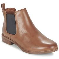 Boty Ženy Kotníkové boty Clarks TAYLOR SHINE Hnědá