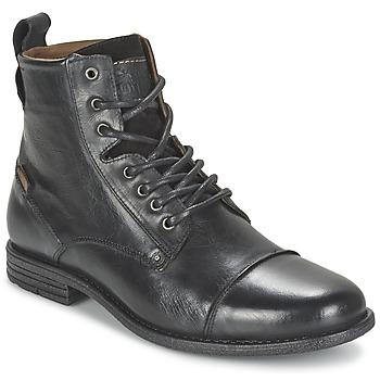 Boty Muži Kotníkové boty Levi's EMERSON LACE UP Černá
