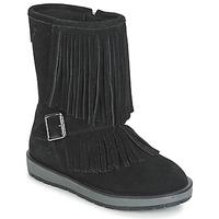 Boty Dívčí Kotníkové boty Geox NOHA Černá