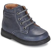 Boty Chlapecké Kotníkové boty Geox B GLIMMER Modrá