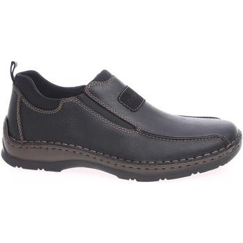 Boty Muži Mokasíny Rieker pánské mokasiny 05363-00 černé