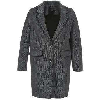 Textil Ženy Kabáty Eleven Paris TABLEAUBIS Šedá / Černá