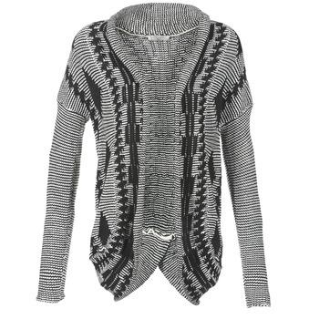 Textil Ženy Svetry / Svetry se zapínáním Teddy Smith GRANBY Krémově bílá / Černá