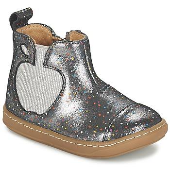 Boty Dívčí Kotníkové boty Shoo Pom BOUBA APPLE Stříbrná