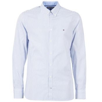 Textil Muži Košile s dlouhymi rukávy Tommy Hilfiger DUNFORD STP NFC2 Modrá