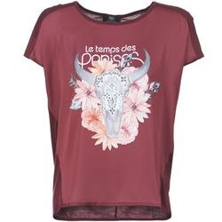 Textil Ženy Trička s krátkým rukávem Le Temps des Cerises CRANEFLO Bordó
