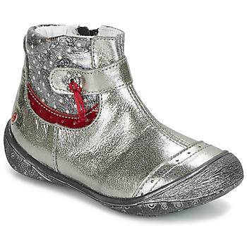 Boty Dívčí Kotníkové boty GBB NYMPHE Šedá