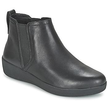 Boty Ženy Kotníkové boty FitFlop SUPERCHELSEA BOOT Černá