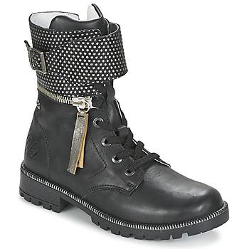 Boty Dívčí Kotníkové boty Ikks PEGGY Černá
