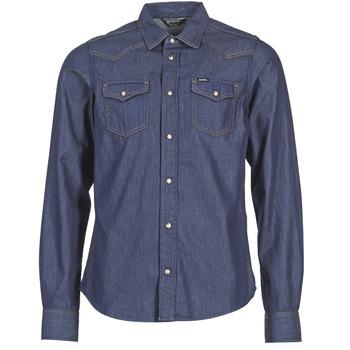 Textil Muži Košile s dlouhymi rukávy Diesel NEW SONORA Modrá