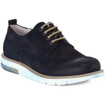Boty Muži Šněrovací společenská obuv Pawelk's PAWELKS CAMOSCIO EXEL Blu