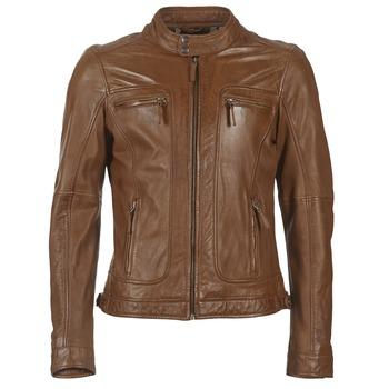 Textil Muži Kožené bundy / imitace kůže Oakwood 60901 Zlatohnědá