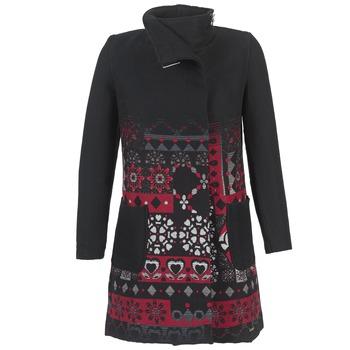 Textil Ženy Kabáty Desigual JEFINITE Černá / Červená
